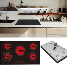 90cm 5 Ring Induction Hob Built-in Touch Control Electronic Stove 9300W Black UK
