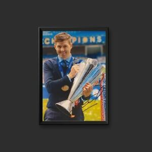 Steven Gerrard, 12 x 8 Glasgow Rangers Signed Picture