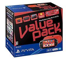 PLAYSTATION Ps Vita Valor Pack Juego Consola Wi-Fi Modelo Sony Rojo y Negro Caja