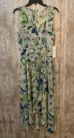 Women's Size 8 Medium Calvin Klein Floral Sleeveless Maxi Dress NWT $139