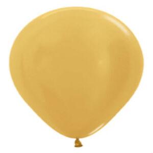 "12 METALLIC GOLD LATEX BALLOONS HELIUM GRADE 11"""