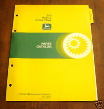 JOHN DEERE 240 SNOW PLOW ON 830 TRACTOR PARTS MANUAL