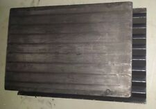 "2 Large V-Groove Graphite Blocks Linear Slide Plate Bearing Surface 18""x12""x1.5"""