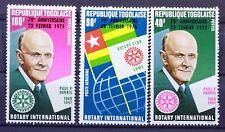 1975 Serie Completo francobolli TOGO ROTARY NUOVO MNH 88M905