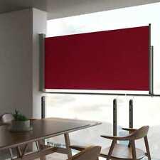 vidaXL Toldo Lateral Retráctil de Jardín Rojo 120x300 cm Lona Parasol de Patio