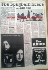 GENESIS in Italy 1972 UK ARTICLE / clipping