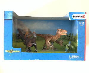 NIB Schleich Feathered Dinosaur Figures Set of 3 Model #42347 Ages 5 -12 years