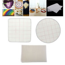 3Pcs Blank Rug Hooking Mesh Canvas Latch Hook Cushion Tapestry Carpet Diy Crafts