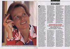 COUPURE DE PRESSE CLIPPING 1984 CHRISTINE OCKRENT (2 pages)