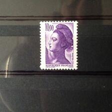 VARIETE papier couché sur LIBERTE 10F violet N° Yv 2276a - LUXE**