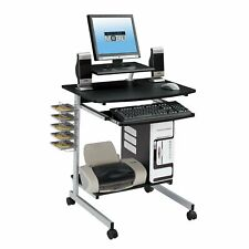 Techni Mobili Rolling Compact Computer Cart Desk With Storage, Graphite (Rta-20
