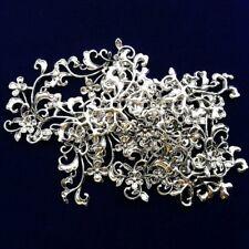 5Pcs Carved Tibetan Silver Flower Pendant Bead 42x24x6mm LL723-29