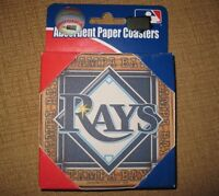 Tampa Bay Rays Premium Coaster Set Baseball RUSS MLB Absorbent Paper Coasters
