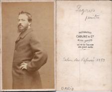Carjat, Paris, Narcisse Alphonse Legros, peintre Vintage albumen print. CDV.Al