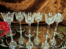 6 FAB 5 oz Nachtmann Bleikristal Crystal Wine Glasses CUT DESIGN/PANELS GERMANY