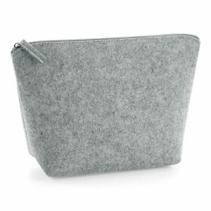 Bagbase Felt Accessory Bag Cosmetics Make Up Pouch Zip Purse Toiletry (BG724)