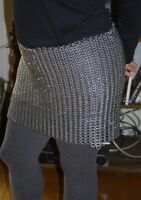 Medieval Knight Chain mail Skirt 9 mm Round Riveted With Flat Warser
