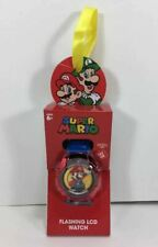NEW Super MARIO Flashin LCD Kids WATCH Metallic RED Award Party Easter Gift