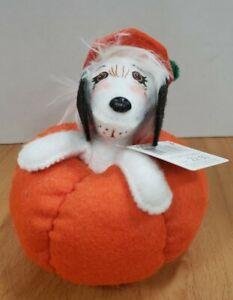 """Annalee Halloween 6"""" Puppy In Pumpkin #301312 2012"""