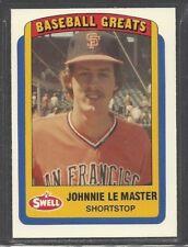 1990 Swell Baseball Greats - #68 - Johnnie LeMaster - San Francisco Giants