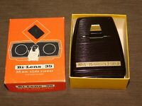 VINTAGE CAMERA SAWYER'S  BI-LENS 35 MM SLIDE VIEWER With BUILT IN LIGHT in BOX