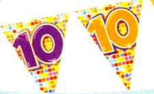 Mini Wimpelkette 10 Geburtstag Jubiläum 3 mtr  Party  Dekoration  Neu