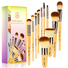 Party Queen 11pcs Bamboo Makeup Brush Set Cosmetic Brushes Kit Make up Tools