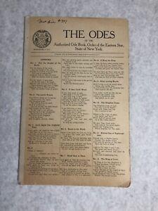 Eastern Star 1911 Ode Book NY Antique The Odes Forest Hills #777 Vintage