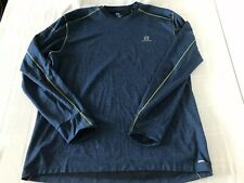 Salomon Mens Advance Skin Active Dry XXL Blue Stretch Long Sleeve Top TS0