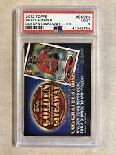 2012 Topps Bryce Harper #GGC26 Golden Giveaway - PSA9 MINT - Nationals Nats