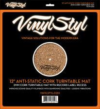 "Vinyl Styl™ 12"" Anti-Static Cork Turntable Mat Free Shipping"