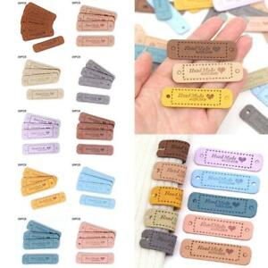 Hand Made With Love Labels Tags For Clothing Handmade PU Leather Labels DIY