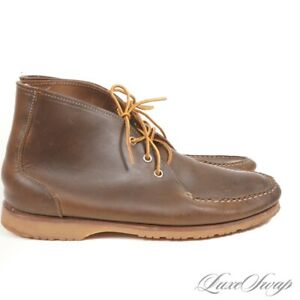 #1 MENSWEAR Quoddy Made in Maine 361 Olive Chromexcel Moccasin Boot Shoes 9.5 NR
