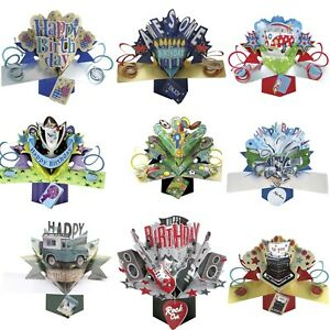 Birthday Card For Grand Son Brother Husband Friend Male 3D Pop Up Gift Card