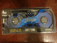 Stinger SK6641 4 Gauge AWG 6000 Series 100% Copper Car Amp Amplifier Wiring Kit
