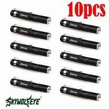 10x 6000LM Mini wasserdicht 1 Modi LED Pen Light Taschenlampe Torch lampe + Clip