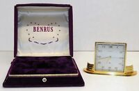 Vintage Benrus - Swiss movement - Mechanical Windup Alarm desk Watch Clock BOX