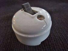 Ancien interrupteur/commutateur électrique  porcelaine-monobloc-bouton bakélite