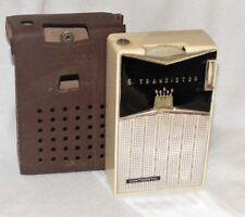 Vintage Atomic CONTINENTAL Transistor Radio+Case~REVERSE PAINTED PLASTIC~Japan