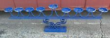 Vintage 9 Candle Holder All Heavy Cast Iron Stand Candelabra