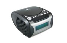 Digital Alarm Clock Radio Am Fm Cd Player Tabletop Led Display Snooze Home Decor