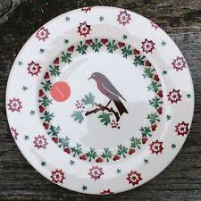 "EMMA BRIDGEWATER . Christmas Joy Robin . Sample . 8-1/2"" PLATE . Spongeware"