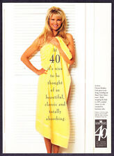 1994 Super Model Christie Brinkley wearing Towel photo Royal Velvet print ad