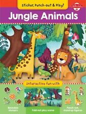 Jungle Animals: Interactive fun with fold-out play scene, reusable stickers, and