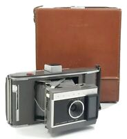 Vintage Polaroid Model J66 Land Camera With Leather Case