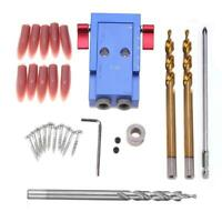 Woodworking Oblique Hole Jig Kit Wood Drill Guide Joinery Step Drill Bit NEW