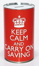 Keep Calm Carry on Saving Large 17.5cm Money Savings Tin Fund Holds upto £1000