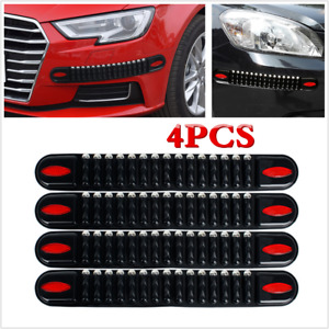 4Pcs Car Accessories Bumper Corner Protector Anti-collision Strip Trim Rubber