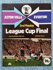 1977 - LEAGUE CUP FINAL 2ND REPLAY PROGRAMME - ASTON VILLA v EVERTON