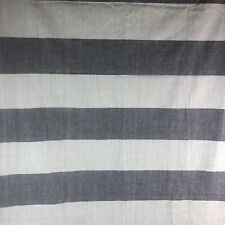 West Elm Curtain Panel 48 x 96 Gray Striped Tab Top Lot 3 Panels Cotton